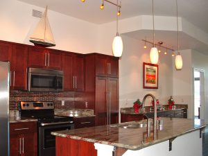 In new construction condos, custom upgrades are typivcally offered by the developer-above the base price-on items such as cabinets, flooring, counters, appliances, and fixtures.