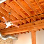 Post and beam construction. Soaring wood ceilings.