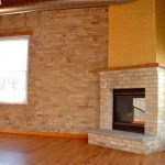 Corner gas fireplace in great room