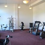 Fitness room included in condo fees